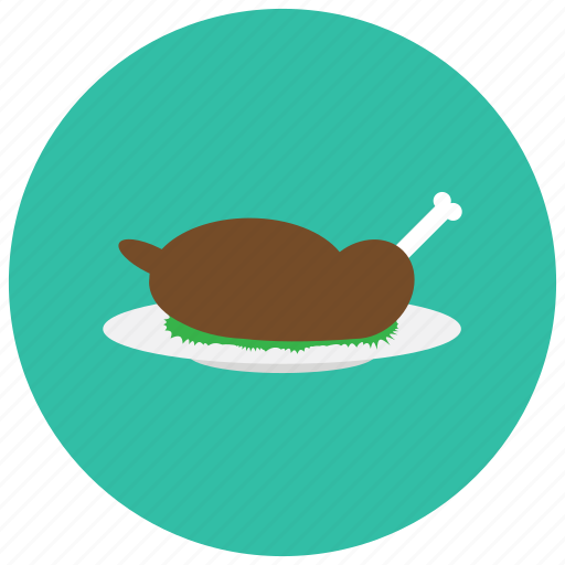 chicken, food, leg, meals, vegetables icon