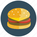 cheeseburger, fast, food, hamburger, meals icon