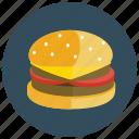 cheeseburger, fast, food, hamburger, meals