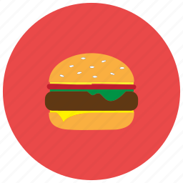 cheeseburger, fast, food, hamburger, lettuce, meals icon