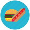 fast, food, hamburger, hotdog, meals icon