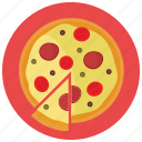 food, meals, pizza, slice icon