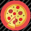 food, meals, pizza, slice