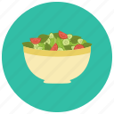 bowl, food, meals, mix, salad icon