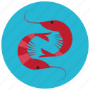 cooking, food, ingredients, meals, seafood, shrimp icon