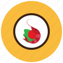 food, meals, plate, shrimp, vegetables icon
