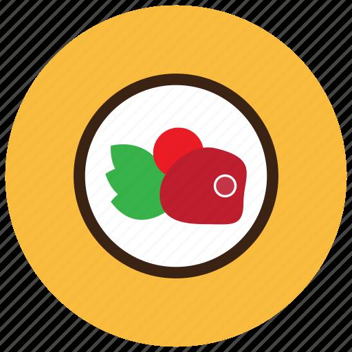 food, meals, plate, sides, steak, vegetables icon