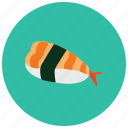 asian, food, meals, rice, seafood, sushi icon