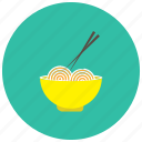 asian, bowl, chopstick, food, meals, noddle icon
