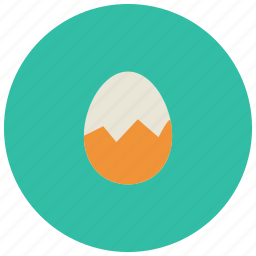 breakfast, cracked, egg, food, meals icon
