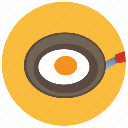 breakfast, egg, food, meals, pan icon