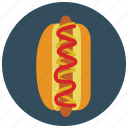 dog, fast, food, hot, ketchup, meals, mustard icon