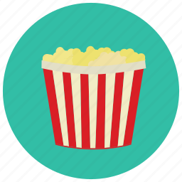 bucket, food, meals, popcorn, size, super icon