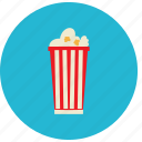 food, meals, popcorn, tall icon