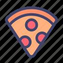 food, dish, pizza, slice