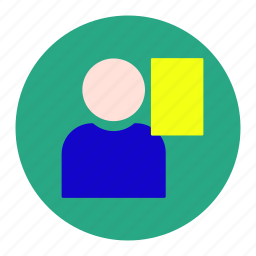card, football, foul, player, soccer, sport, yellow icon