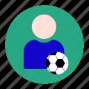 football, goal, player, scorer, soccer, sport, statistic icon