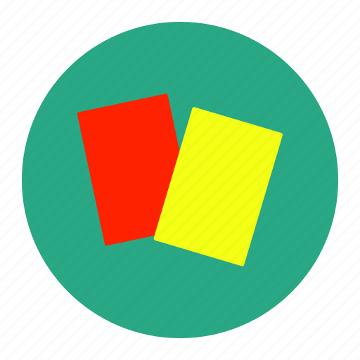 card, football, penalty, red, soccer, sport, yellow icon