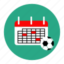 agenda, calendar, football, match, soccer, sport, tournament icon