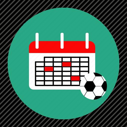 agenda, calendar, football, match, soccer, sport, tournament icon