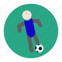 dribble, football, player, soccer, sport, statistic, team icon