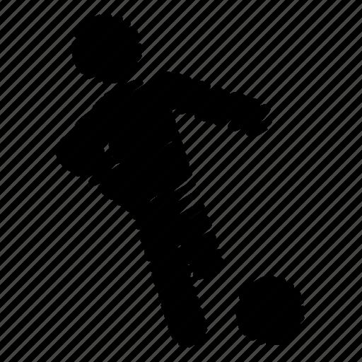 football, herding, kicker, player, soccer icon