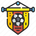 pennant, soccer, football, sport, competition, flag, team