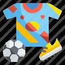 jersey, soccer, football, sport, equipment, uniform, stud icon