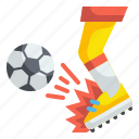 shoot, kick, soccer, football, sport, competition, player icon