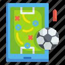 strategy, soccer, football, sport, whiteboard, plan, training icon