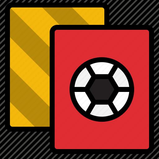 amonestation, cards, football, referee, rules icon