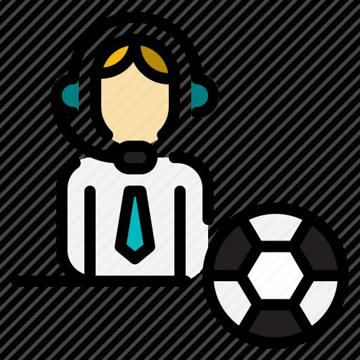 commentator, news, profession, sport icon