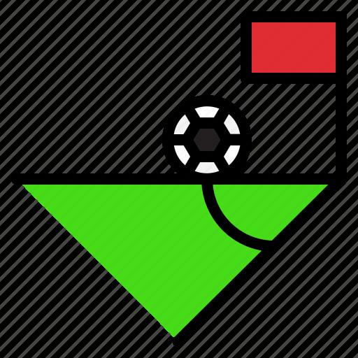 corner, field, football, play, sport, sportive icon