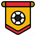 flag, football, pennant, sportive icon