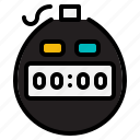 chronometer, football, soccer, time, timer, tools, wait icon