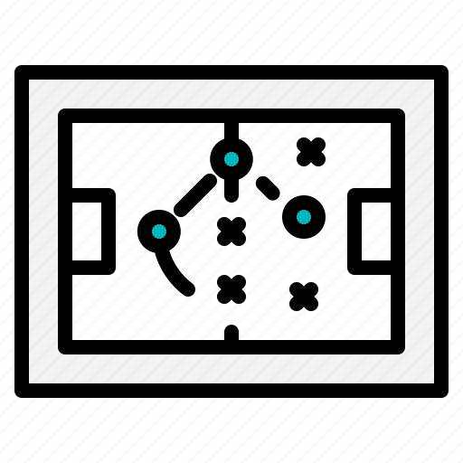 football, miscellaneous, sport, strategy, tactics icon