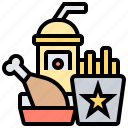 dining, eating, fast, food, snack icon