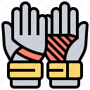 equipment, gloves, goalkeeper, hands, protection icon
