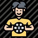 athlete, game, goalkeeper, player, soccer icon