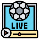 broadcast, live, online, sports, streaming icon