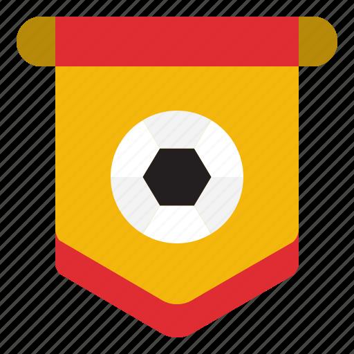 flag, football, pennant, sportive icon