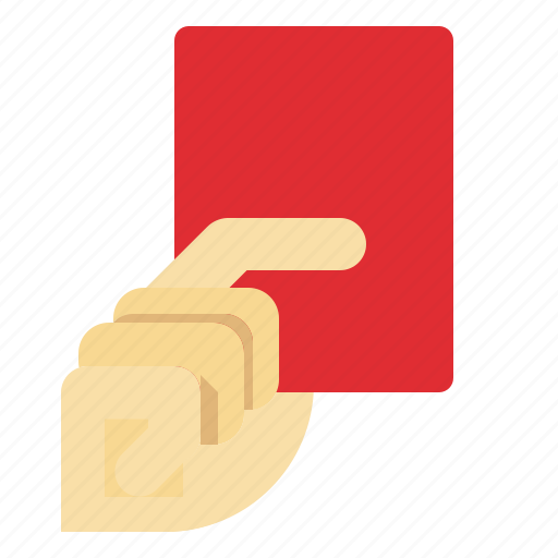 amonestation, card, football, red, referee, rules icon