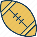 american football, egg ball, rugby, rugby ball icon