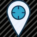 location marker, location pointer, map locator, map pin icon
