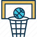 backboard, basketball goal, basketball hoop, basketball net icon