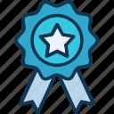 medal, prize, reward ribbon, ribbon badge icon