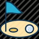 golf, golf course, golf flag, golf hole flag, golfing icon
