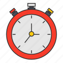 chronometer, clock, finish, fitness, stopwatch, time, timeout icon