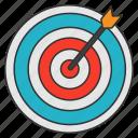 arrow, bullseye, dartboard, espa, focus, goal, target icon