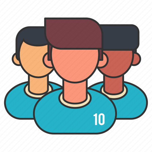 collaboration, football, group, hierarchy, people, soccer, team icon